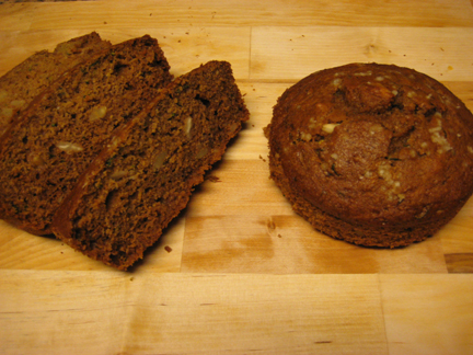 This healthy zucchini bread is moist and subtly spicy.