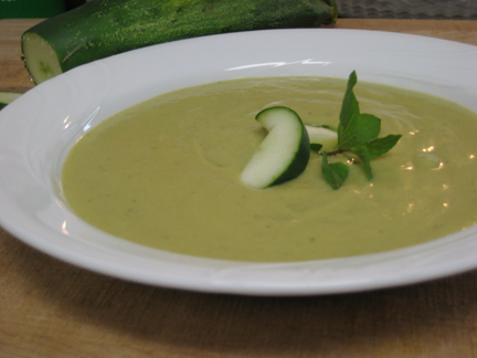 The winning shot: cold avocado and cucumber soup