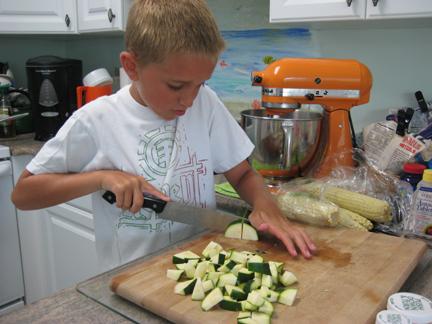 Darren Cutting Zucchini