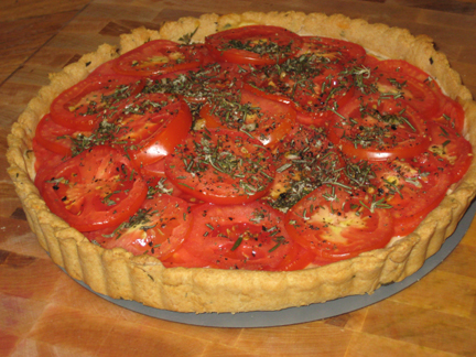 Tomato Tart with Olive Oil Crust