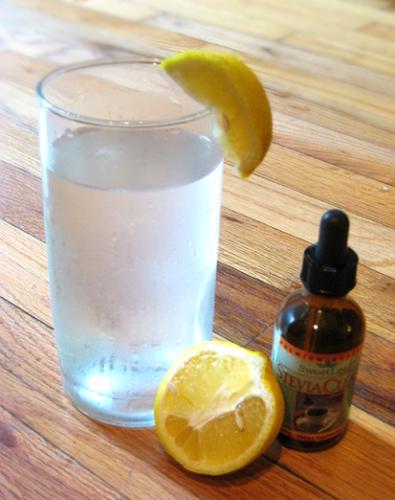 Natural Lemonade: water, lemons, stevia