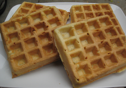 This waffle recipe is from 1651
