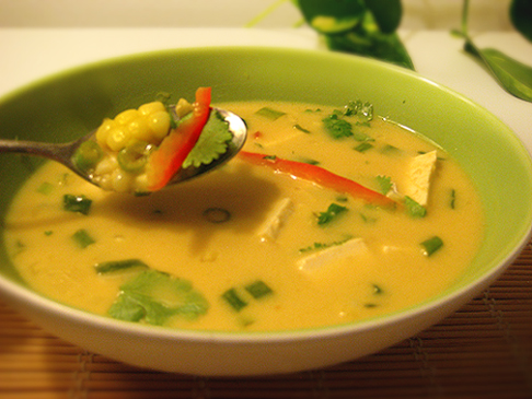 This Thai Coconut Corn Soup is vegan, and quick and easy to make.