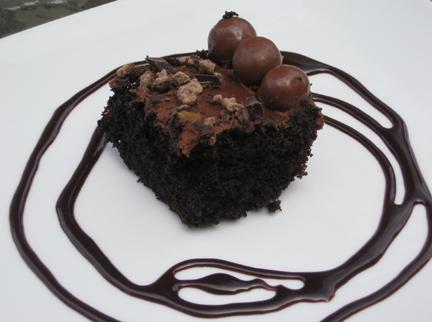 The Barefoot Contessa's Chocolate Birthday Cake Sliced