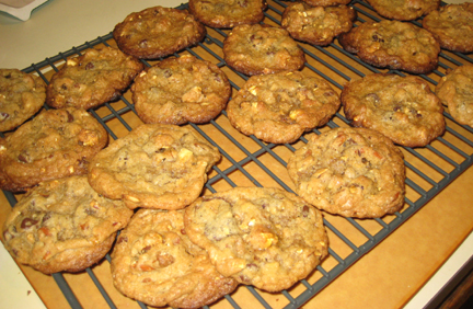 Compost Cookies Ready to Eat