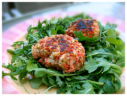Salmon Croquettes on Salad