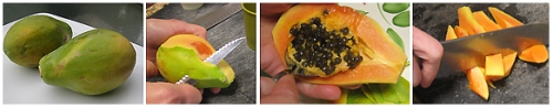 How to Cut a Papaya