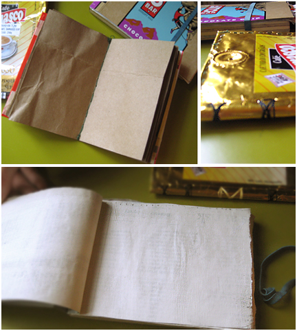 Recycled paper used in notebooks