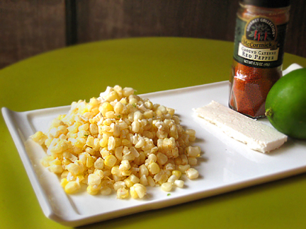 Esquites (Fresh Corn with Lime, Cayenne Pepper, and Cojita Cheese)