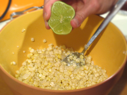 Esquites with lime