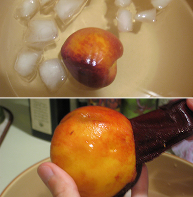 A way to easily peel peaches