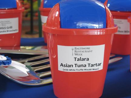 Talara Voting Basket, Baltimore Restaurant Week Appetizer Challenge