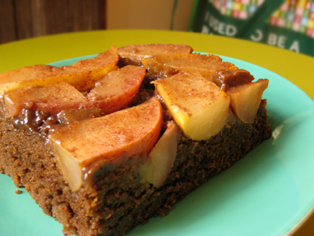 Ginger Pear Upside-Down Cake
