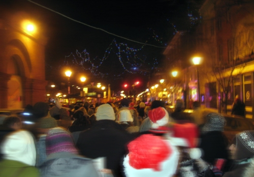 East Baltimore Christmas, caroling in Fell's Point