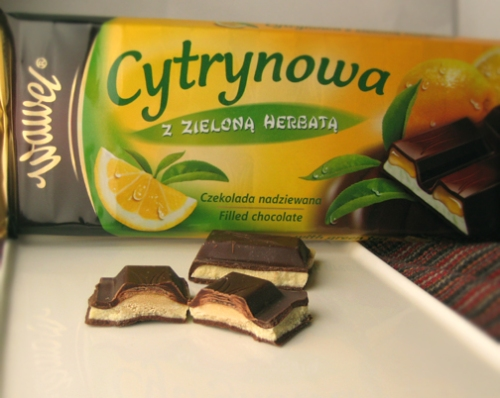 Polish chocolate with green tea and lemon