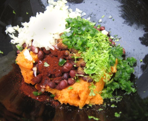 sweet potato and black bean empanada filling