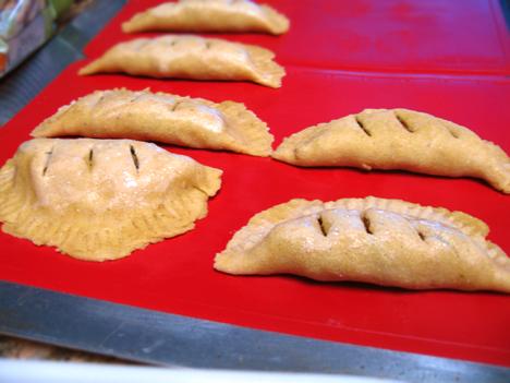 Empanadas ready to bake