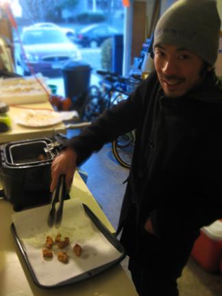 Shrimp frying station