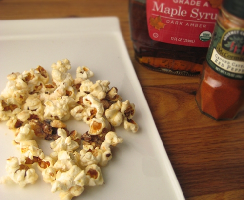 Spicy Maple-Cashew Popcorn from Cooking Light