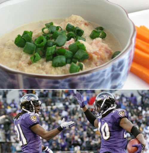 Cheese dip for the Baltimore Ravens