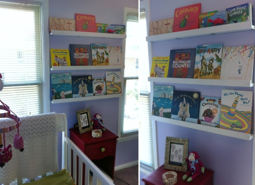 Children's books as wall art