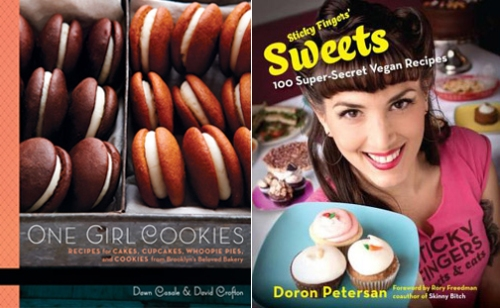 One Girl Cookies and Sticky Fingers' Sweets cookbooks