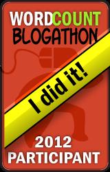 "2012 WordCount Blogathon ""I did it!"" badge"